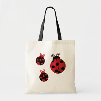 Three Ladybugs Tote Bag