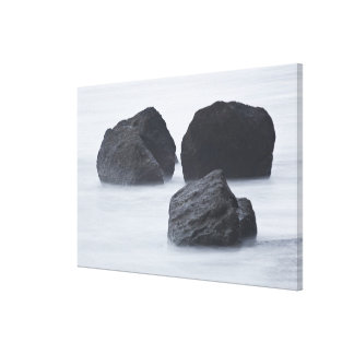 Three large boulders on Ruby Beach, Olympic Canvas Print