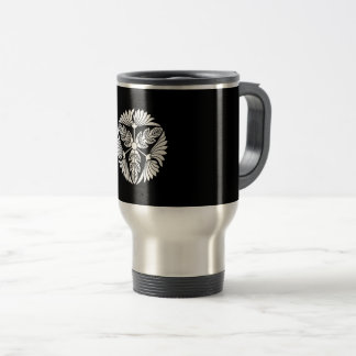 Three leaf chrysanthemums travel mug