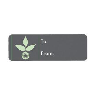 Three Leaves and Circle Return Address Label