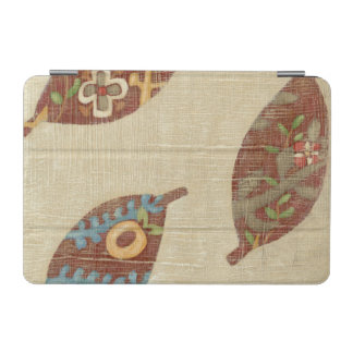 Three Leaves on Linen Texture Background iPad Mini Cover