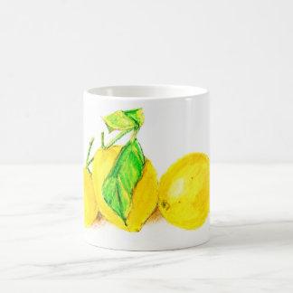 three lemons basic white mug