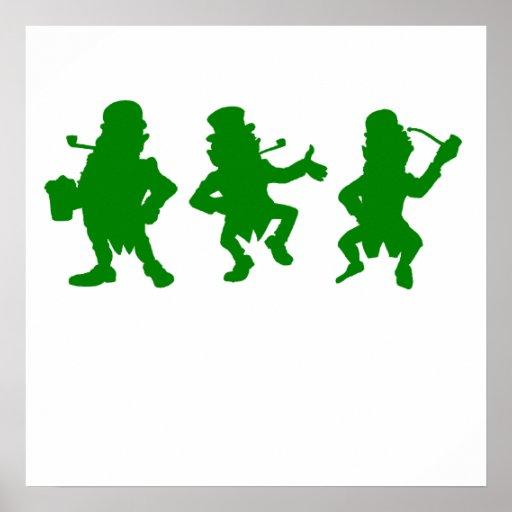 Three Leprechauns Posters