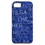 Three-Letter Airport Codes Blue iPhone 5 Cases