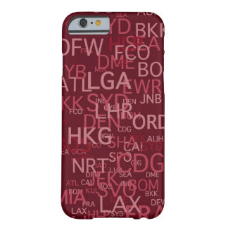 Three-Letter Airport Codes Red Barely There iPhone 6 Case