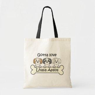Three Lhasa Apsos Budget Tote Bag