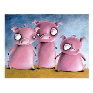 Three Li'l Pigz Postcard
