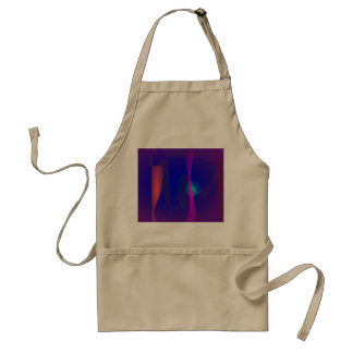 Three Lines Abstract Composition with Shading Standard Apron