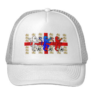 Three Lions football lovers peak baseball cap Trucker Hat