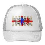 Three Lions football lovers peak baseball cap Trucker Hats