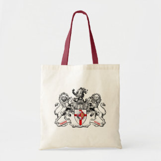 Three lions heraldry football tees and gifts canvas bag