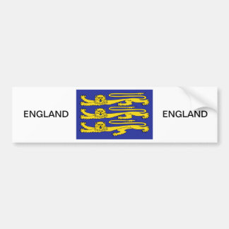 Three Lions of England Bumper Sticker