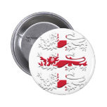 Three Lions St George's Cross Pinback Button