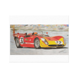 Three Liters and Red Paint Canvas Print