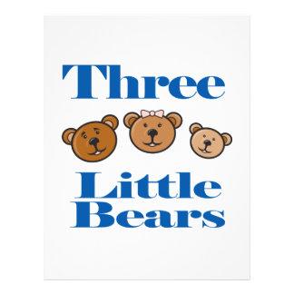 three little bears personalized flyer