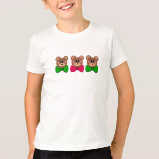Three Little Bears in Bows T-Shirt