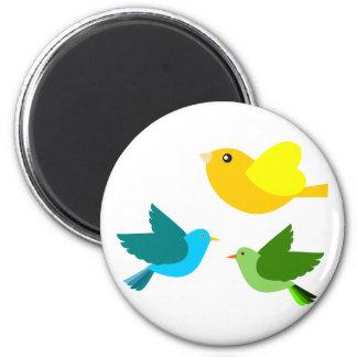 Three Little Birds 6 Cm Round Magnet