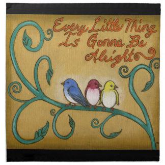 Three Little Birds Cloth Napkin