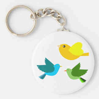 Three Little Birds Key Ring