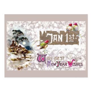 Three Little Birds Tweet the New Year Postcard
