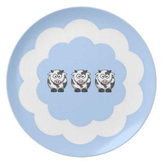 Three Little Cows Dinner Plate