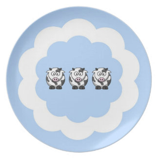 Three Little Cows Plates