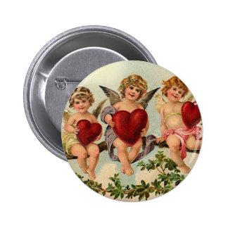 Three Little Cupids Pinback Button