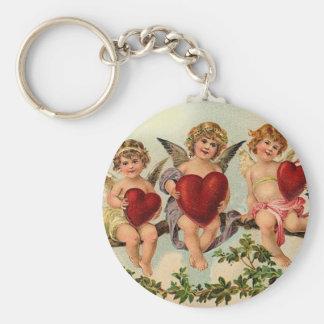 Three Little Cupids Basic Round Button Key Ring
