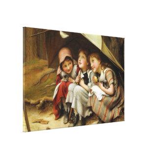 """Three Little Kittens"" Gallery Wrap Canvas"