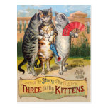Three Little Kittens Mother Goose Post Card
