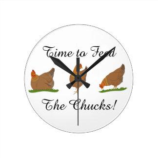 Three Little Ladies Hen Clock