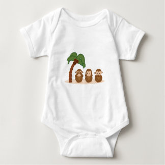 Three little monkeys - three macaquinhos baby bodysuit