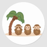 Three little monkeys - três macaquinhos adesivos