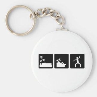 Three Little Pics - Men 4 Basic Round Button Key Ring