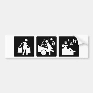 Three Little Pics - Women 11 Bumper Sticker