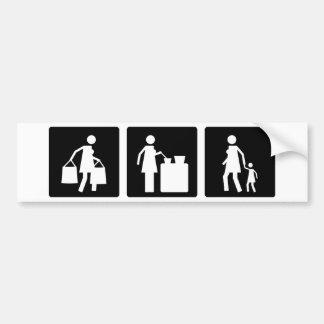 Three Little Pics - Women 8 Bumper Sticker