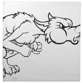 Three Little Pigs Big Bad Wolf Blowing Napkin