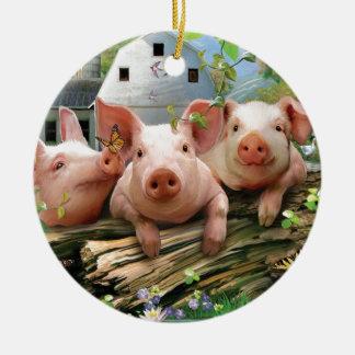 Three Little Pigs Christmas Ornament