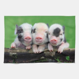 Three little pigs - cute pig - three pigs tea towel