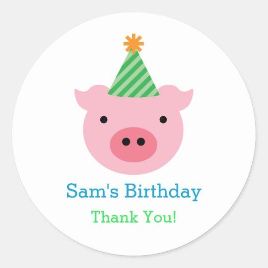 Three Little Pigs Favour Sticker