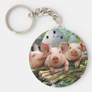 Three Little Pigs Key Ring
