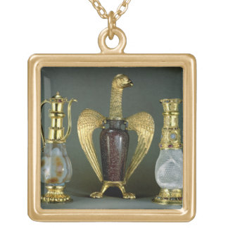 Three liturgical vessels incorporating antique ves gold plated necklace