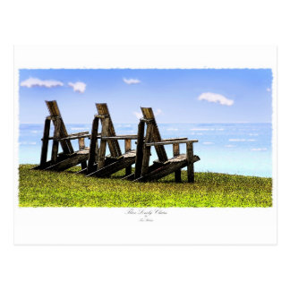 Three Lonely Chairs Postcards