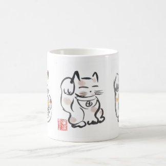 Three Lucky Cats Cup Mugs