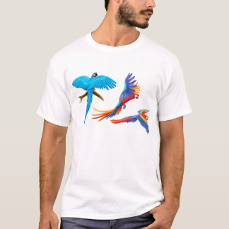 Three Macaws T-Shirt
