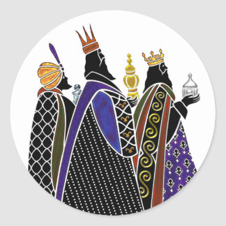 Three Magi Bearing Gifts Classic Round Sticker