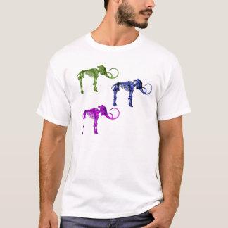Three Mammoth Skeleton Design T-Shirt