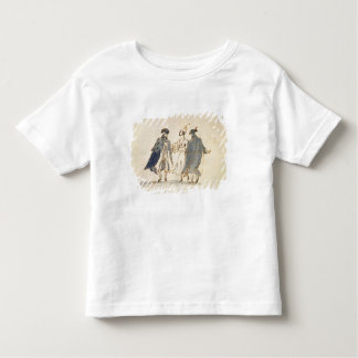 Three Masked Figures in Carnival Costume (pen & in Toddler T-Shirt