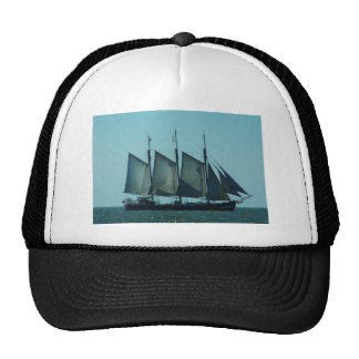 Three masted sailing ship cap