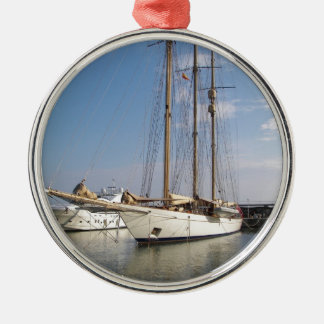 Three Masted Yacht Christmas Ornament